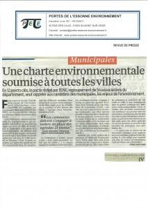 """Cédric SAINT-DENIS, """"Une charte environnementale soumise à toutes les villes"""", Le Parisien Essonne matin, 10 février 2014, p. IV (3)"""