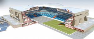 Projet de Grand stade de rugby (dessin extrait de www.grandstaderugby.debatpublic.fr).