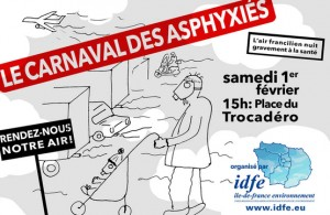 Affiche du Carnaval des asphyxiés 2014. IDFE.