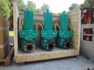 Pompes de relevage sur l'Yvette à Gif 2014-06-24