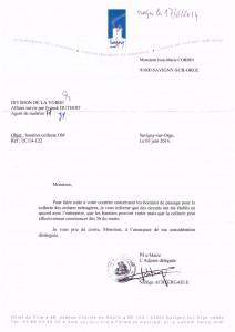réponse mairie savigny suite à passages à 5h des éboueurs 2014-06-17