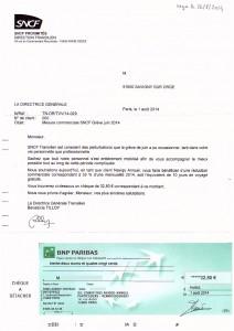 remboursement grève juin 2014