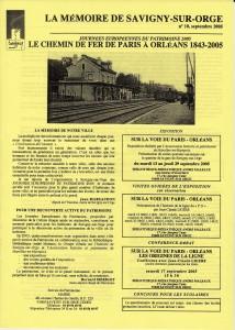 Memoire SSO 2005 Chemin de fer 8 p