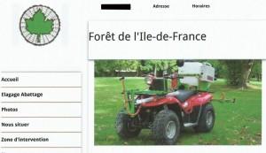 FORET ILE DE FRANCE quad