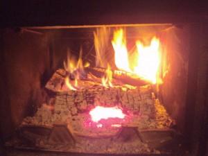Feu de cheminée - © JM Corbin 2015-01-06
