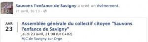 AG Sauvons les enfants de Savigny