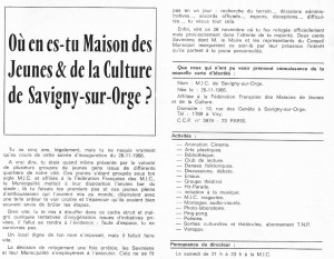 Bulletin municipal SSO Decembre 1967 MJC