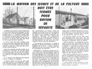 Bulletin municipal SSO janvier 1973 MJC