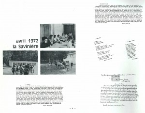 Bulletin municipal SSO novembre 1972 LA SAVINIERE
