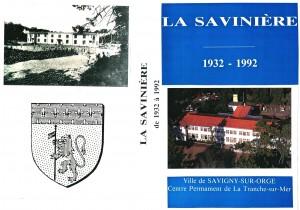 LA SAVINIERE 1932-1992 - jaquette VHS