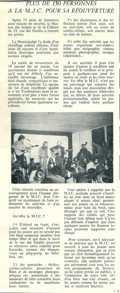 MJC GO FEVRIER 1974