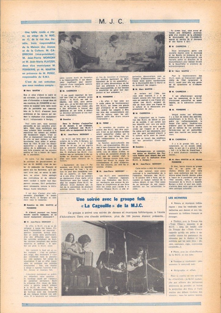 MJC SSO BM MAI 1977