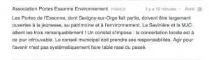 PEE signe la pétition contre le budget primitif 2015 de la ville de Savigny-sur-Orge proposé par Eric MEHLHORN, maire UMP (www.change.org). 12 avril 2015.