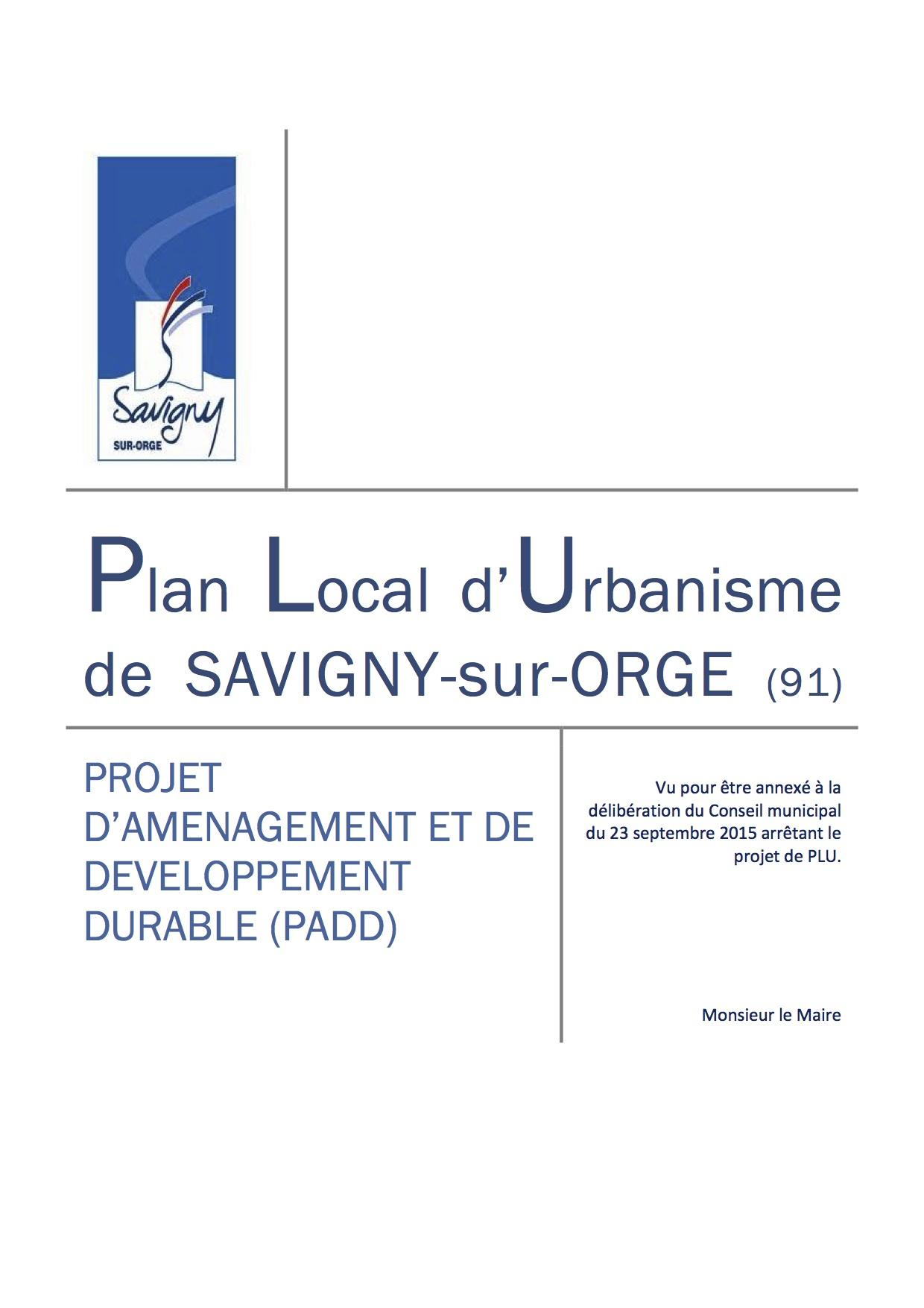 Les documents du projet de plan local d urbanisme plu de for Projet de plan