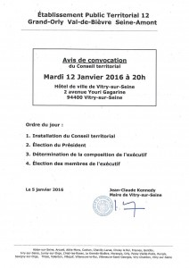 Conseil T 12 ODJ 12 janvier 2016
