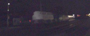 convoi de déchets radioactif en gare de Savigny-sur-Orge le 14 janvier 2014 à 7h50