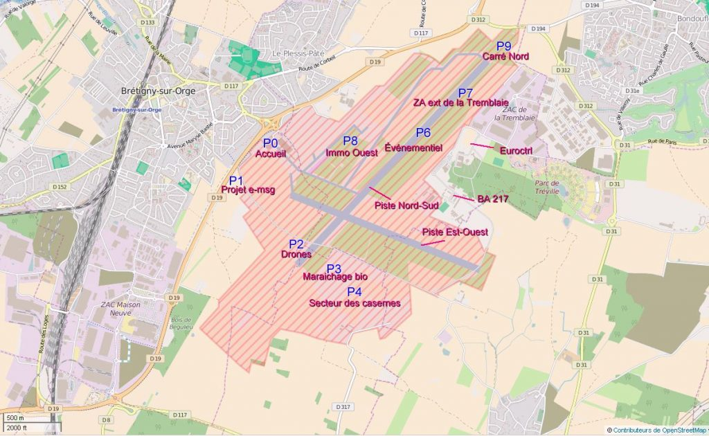 Bretigny-sur-Orge Base 217 OpenStreetMap lieux
