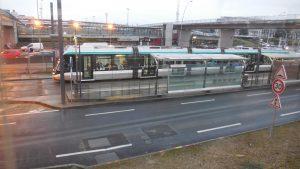 Le Tramway 7 (T7) en direction de Juvisy-sur-Orge. © Photographie prise à la station Orly, BM/CAD, 2 février 2017.